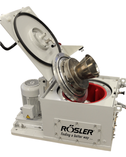 Rosler's Z 800 centrifuge is semi-automatic.