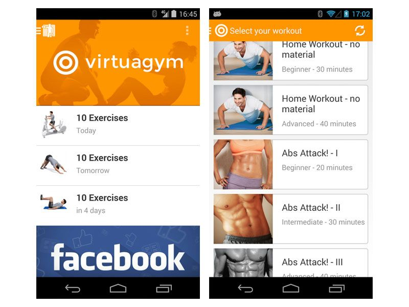 VirtuaGym Fitness - aplikacja