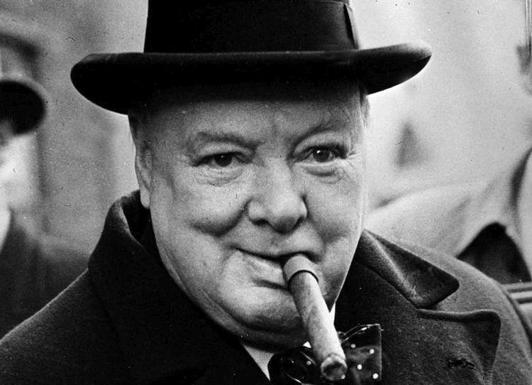 Winston Churchill z cygarem