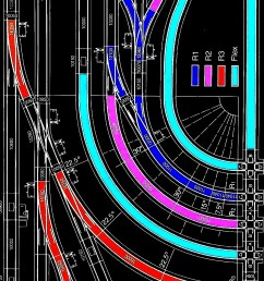 examples of lgb track sections and flx track showing the various curve diameters available [ 1101 x 1999 Pixel ]