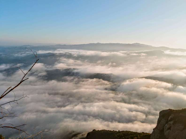 above the clouds in Montserrat