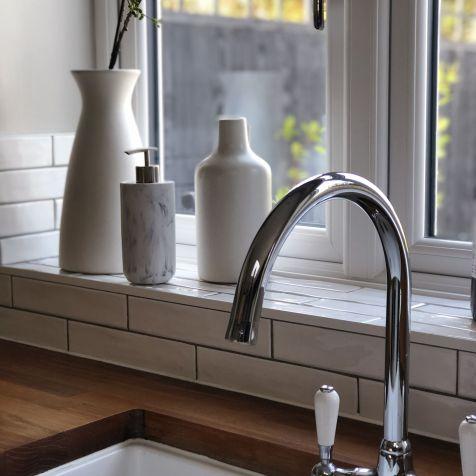 Marble Hand Dispenser - Soak.com and Ceramic Vases from West Elm