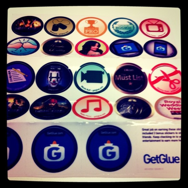 Groovy... My @GetGlue stickers have arrived