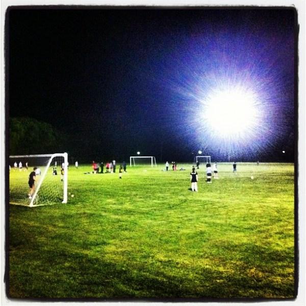 Soccer under lights