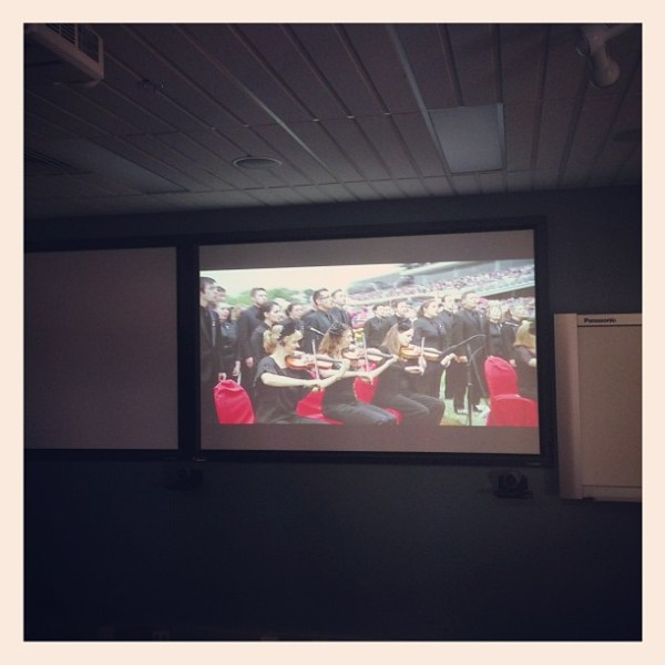 Melbourne Cup on the big screen