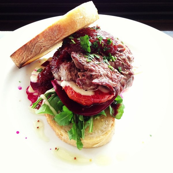 Ebor steak sandwich