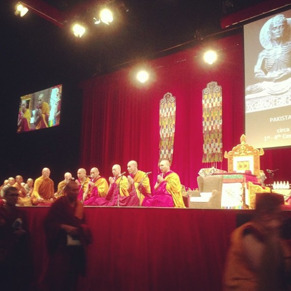 Chanting Gyuto monks open day 1 of Jewel Lamp Teachings