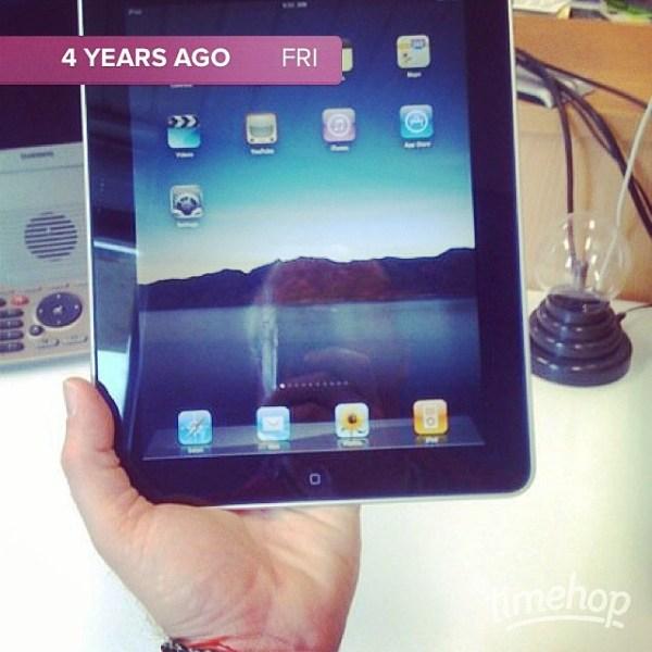 Happy Birthday, iPad... :)