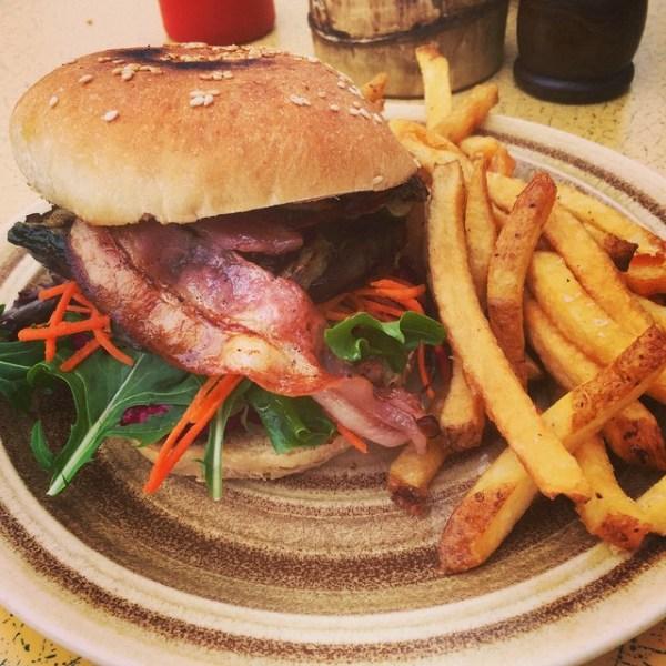 Veggie Burger with Bacon