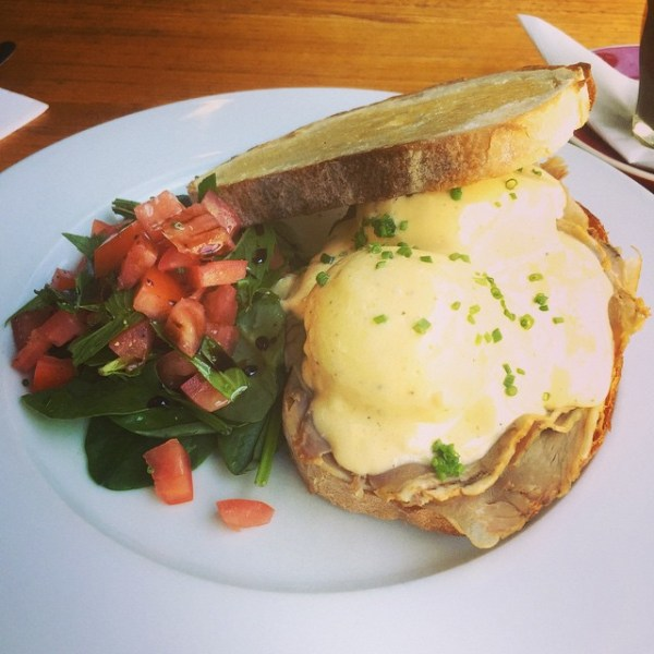 Roast Beef Eggs Benedict w/ horseradish hollandaise