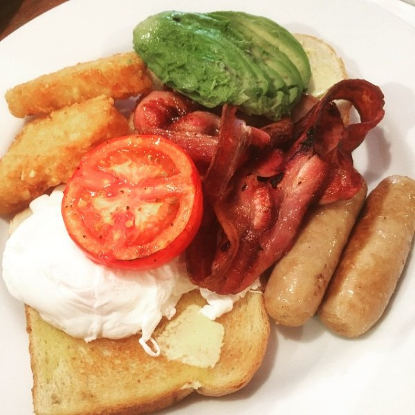 Big Breakfast with poached eggs & avocado