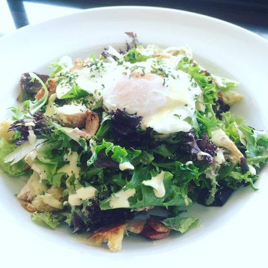 Caesar Salad with free-range chicken & warm poached egg