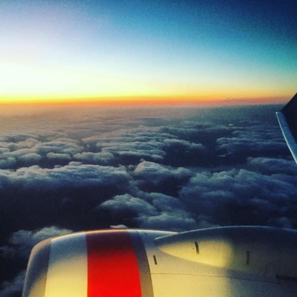 Sunset skies...