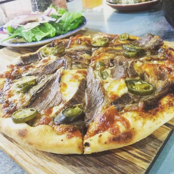 American BBQ Beef Rib Pizza