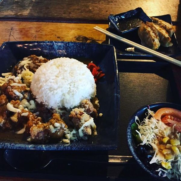 Karaage Curry Rice & Gyoza