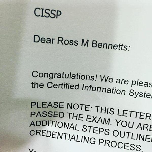 W00t! Passed the epic CISSP exam