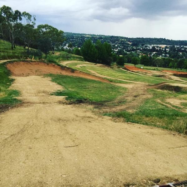 Kookaburra Crest BMX/mountain bike track has been resurfaced & extended...