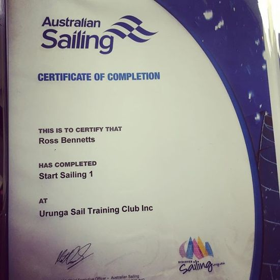 Certified for Sailing... SS1 & SS2