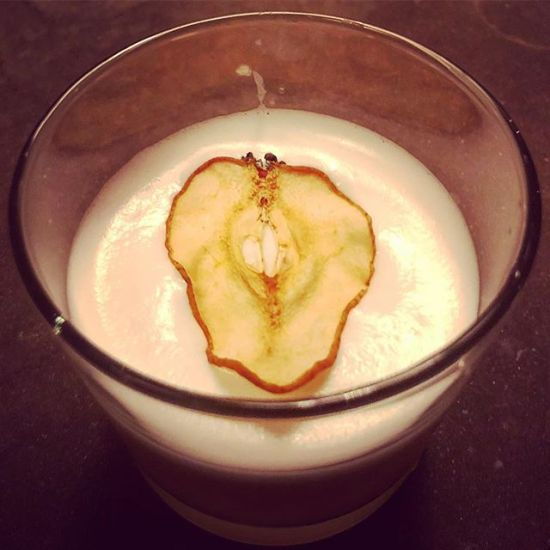 Meyer Lemon & Pear Whiskey Sour 🥃 🍋 🍐