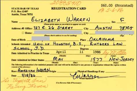 Image result for elizabeth warren state bar of texas