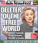 hillary clinton delete email