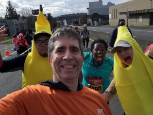 And bananas at mile 6. I don't know why.