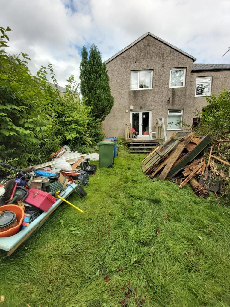 rubbish removal Glasgow project