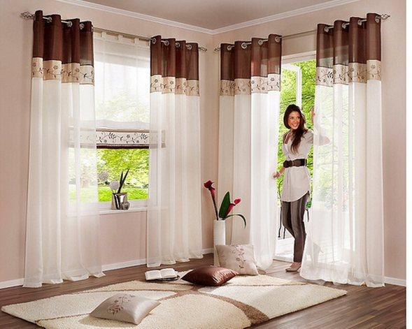 Design Vorhange Wohnzimmer Wei Inspirierende Bilder Von Vorhange ... Gardinen Modern Wohnzimmer Braun