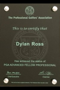 PGA Advanced Fellow plaque