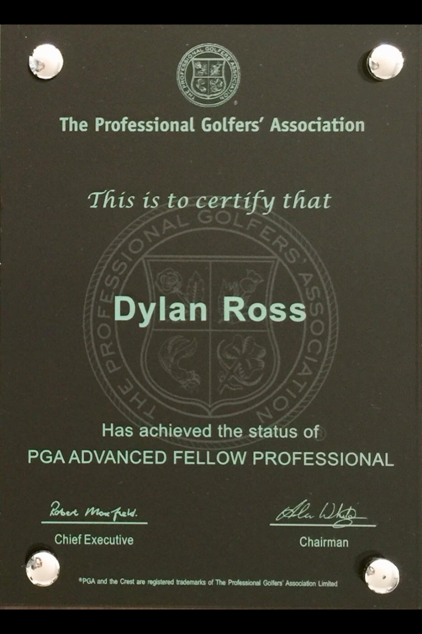 PGA Advanced Fellow Professional plaque