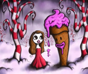pop surrealism low brow art ice cream candy land