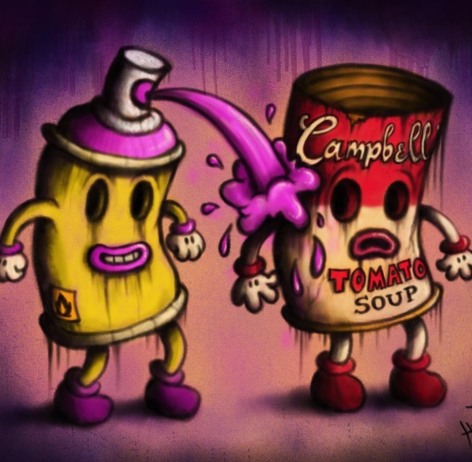 campbells soup pop art graffiti