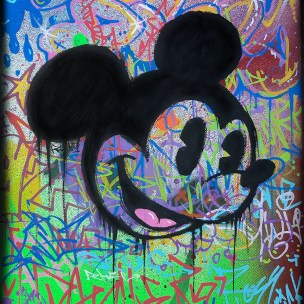 mickey mouse graffiti canvas