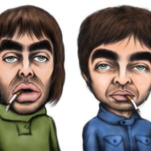 oasis caricature gallaghers
