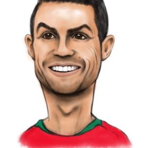 cristiano ronaldo caricature cr7 cartoon drawing