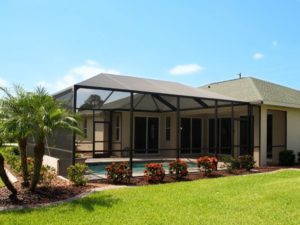 outdoor solar shades screened window