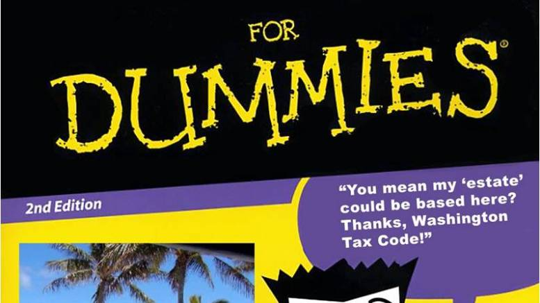 Spoof book cover - tax evasion for dummies