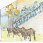 751 Skizze Galcier Treppe Coloriert