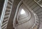 A spiral staircase, Milan, Italy