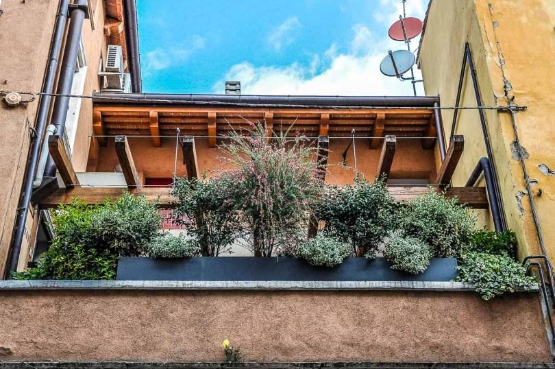 A balcony garden design idea - Vicenza, Italy - rossiwrites.com