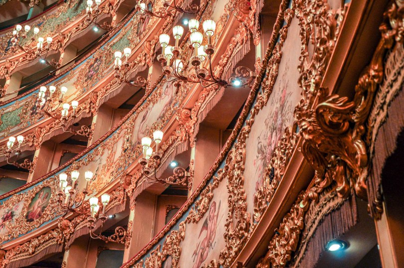 Close-up of the ornamentation of the boxes - La Fenice Opera House in Venice, Italy - www.rossiwrites.com
