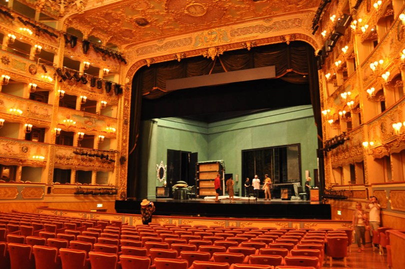 Rehearsing for tonight's performance - La Fenice Opera House in Venice, Italy - www.rossiwrites.com