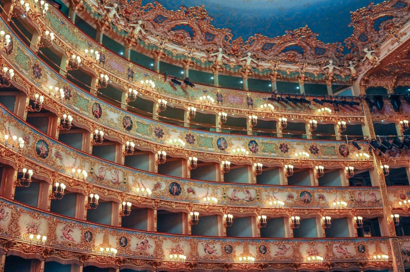 The lavish boxes - La Fenice Opera House in Venice, Italy - www.rossiwrites.com