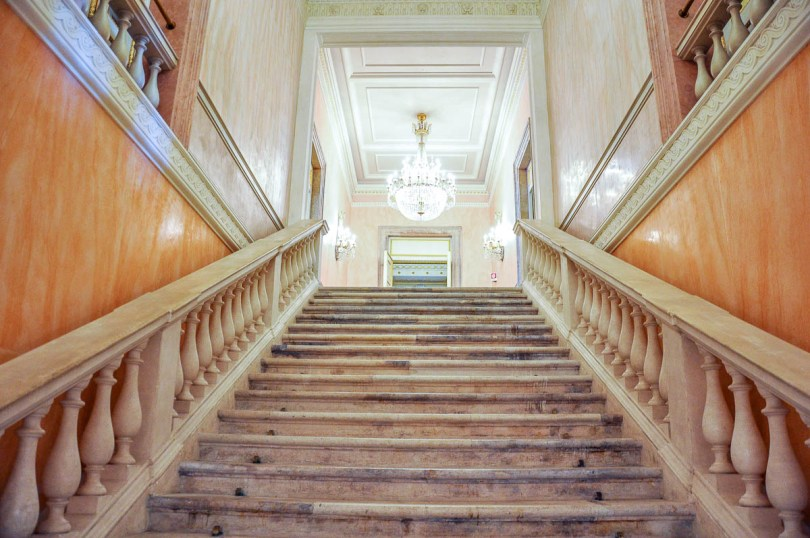 The staircase - La Fenice Opera House in Venice, Italy - www.rossiwrites.com