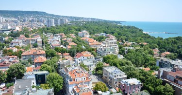 A bird-eye's view of Varna, Bulgaria