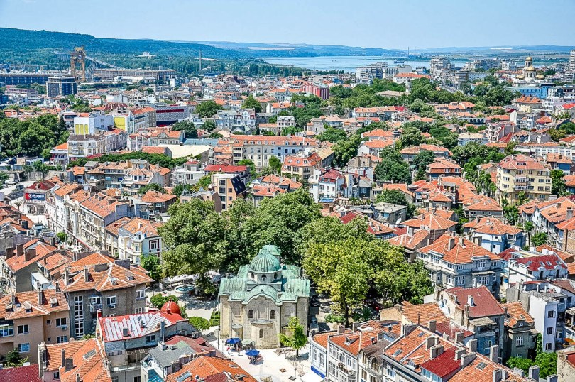 A bird-eye's view of Varna, Bulgaria known as the Pearl of the Black Sea - www.rossiwrites.com