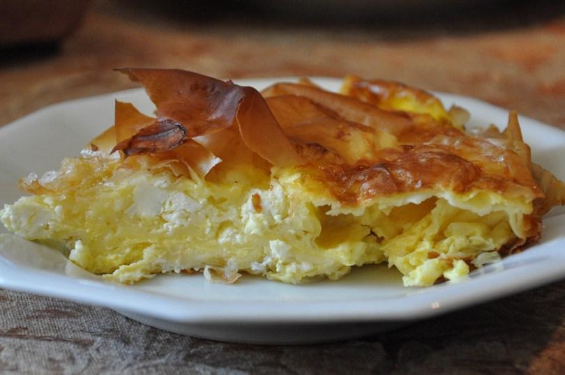 A slice of Bulgarian banitza