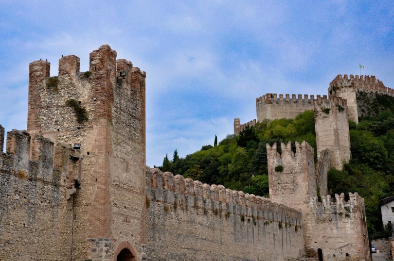 The defensive wall and the castle, Soave, Veneto, Italy