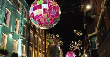 Carnaby Street's Christmas decorations, London, England