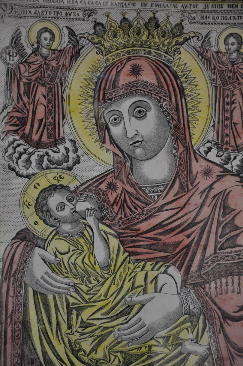An icon of a nursing Virgin Mary, Aladza Monastery, Varna, Bulgaria